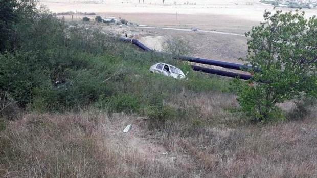 Крымские спасатели ликвидировали последствия ДТП в районе феодосийского поселка Орджоникидзе