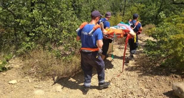 На горе Аю-Даг в беду попала женщина