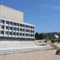 В Севастополе реконструируют площадь у Дворца культуры рыбаков