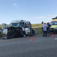 ДТП на трассе Армянск-Симферополь: не разминулись «Fiat Dukato» и «КАМАЗ»