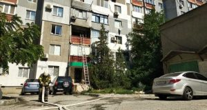 Утренний пожар в Симферополе - горела квартира в многоэтажке