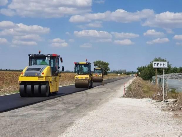 Работы на крымской автодороге «Нижнегорский – Белогорск» выполнены на треть