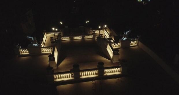 В Керчи наладили подсветку Большой Митридатской лестницы