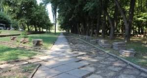 Как проходит реконструкция сквера возле Дворца культуры профсоюзов в Симферополе