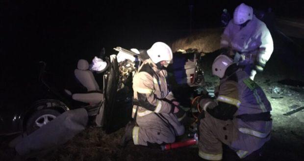 Ночное ДТП в Сакском районе: двое пострадавших