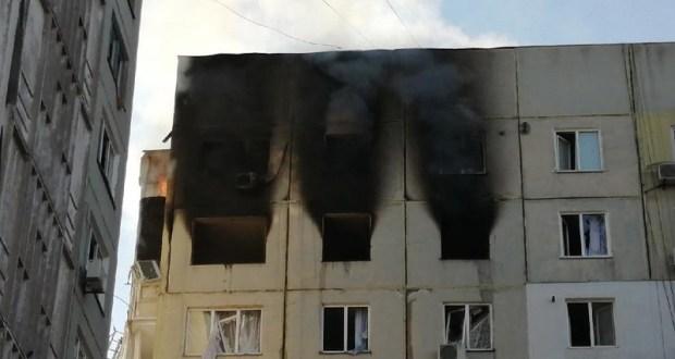 Взрыв и пожар в керченской десятиэтажке. Серьезно пострадала женщина