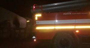 Ночной пожар в Черноморском районе Крыма - сгорели сотня свиней и 50 тонн зерна