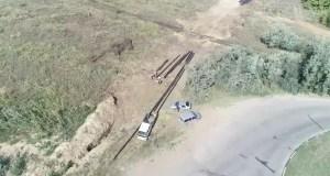 В Керчи к поселку Героевское прокладывают подземный газопровод