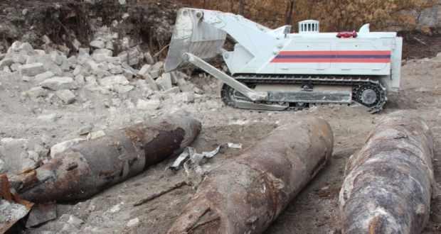 Эхо войны. В Керчи уничтожили двухтонные фугасные авиационные бомбы