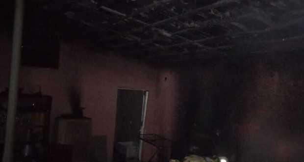Ночной пожар в селе Зеленое Бахчисарайского района