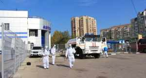 В Симферополе хорошенько продезинфицировали Центральный автовокзал