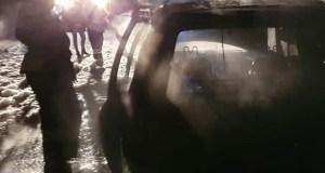 Утренний автопожар под Симферополем