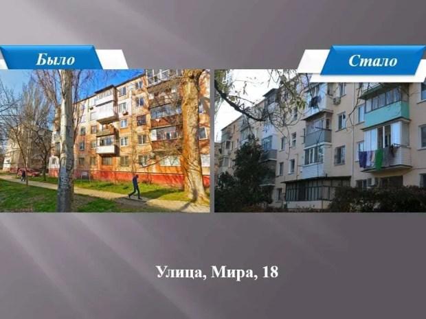 В Керчи отремонтированы фасады 11 жилых домов