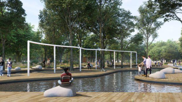 Представлен проект - победитель архитектурного конкурса концепции развития парка им. Гагарина в Симферополе