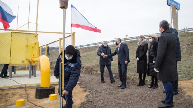 Сергей Аксёнов принял участие в запуске газа в селах Бахчисарайского района