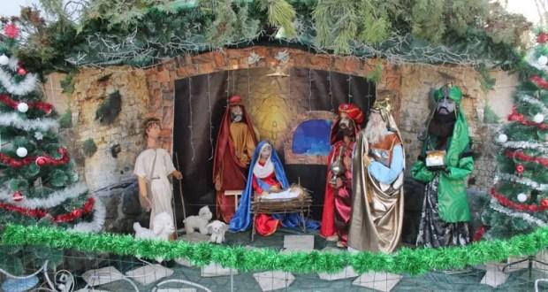У симферопольского храма Всех Святых установлен уникальный рождественский вертеп
