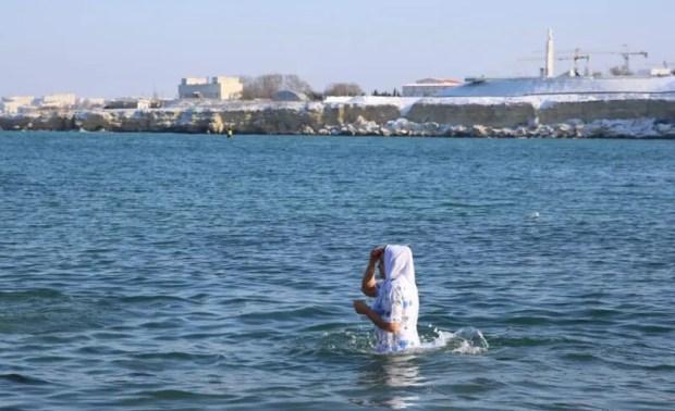 Праздник Крещения Господня в Херсонесе. Освящение воды и обряд омовения