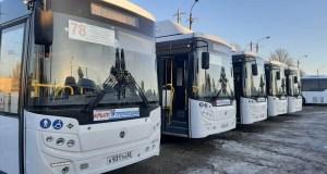 Пять новых автобусов вышли на маршрут №78 «Каменка – СТ Надежда» в Симферополе