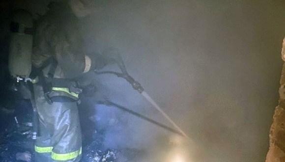 Ночной пожар в Симферополе, есть погибший