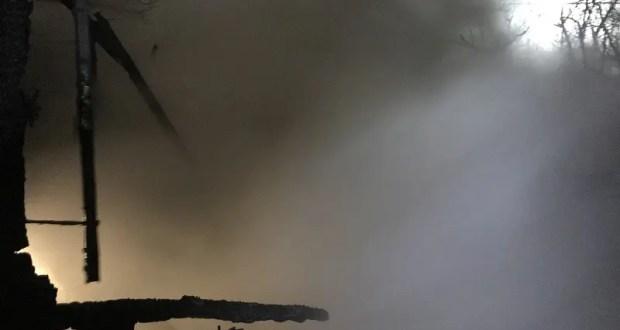 Утренний пожар в Балаклаве