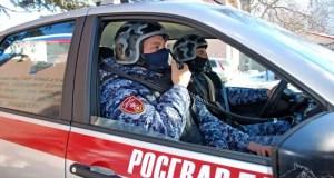И в сугроб! Росгвардейцы в Симферополе помогли сотрудникам ДПС задержать нетрезвого лихача