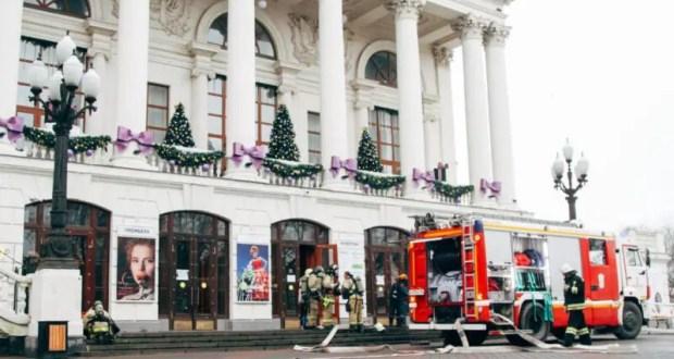 Севастопольский пожарно-спасательный гарнизон ликвидировал условный пожар в театре им. А.В. Луначарского