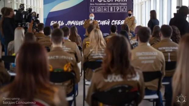 Активисты студотрядов Севастополя встретились с Губернатором города