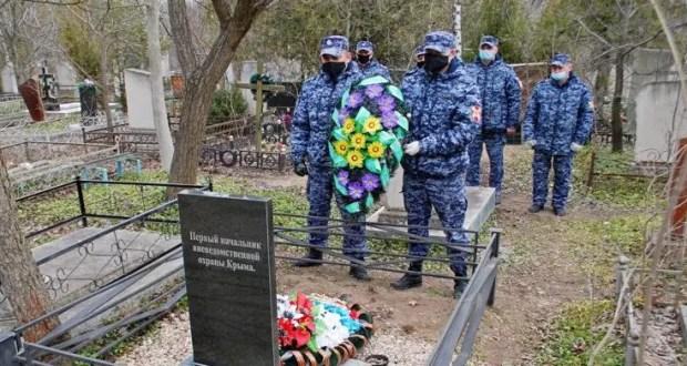 Сотрудники крымской вневедомственной охраны почтили память первого начальника УВО Крыма