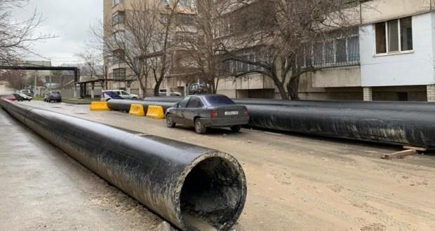 Как идет строительство водовода в Симферополе (от проезда Высоковольтного до улицы Западной)