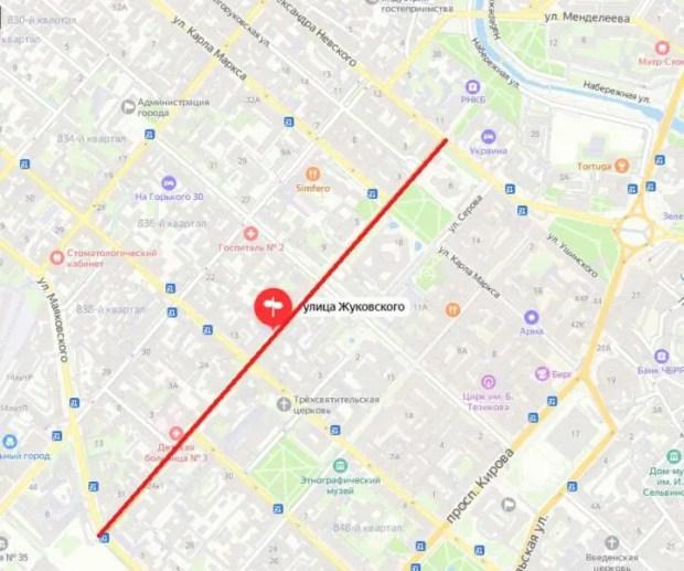 Внимание! Перекрытие движения в центре Симферополя