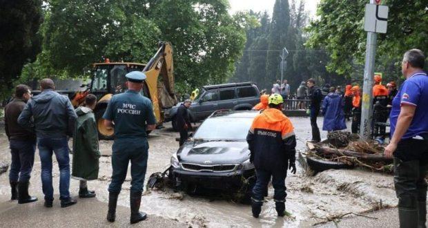 Информационная сводка о подтоплении в Керчи и Ялте. Утро 28 июля