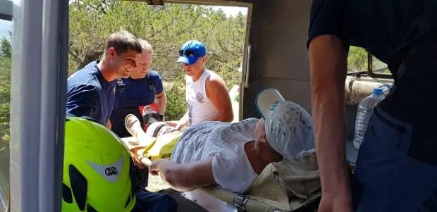 Туристка повредила ногу в Можжевеловой роще под Судаком. На помощь пришел «КРЫМ-СПАС»