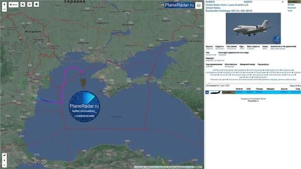 Российские истребители сопроводили два самолета-разведчика ВВС США над Чёрным морем