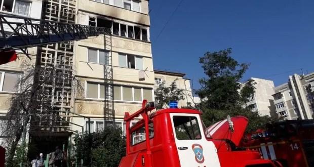 Утренний пожар в Алуште – горела пятиэтажка