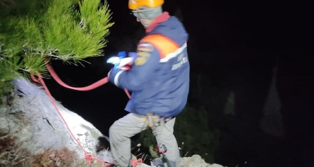 Ночное происшествие под Судаком: с горы Алчак-Кая снимали туриста