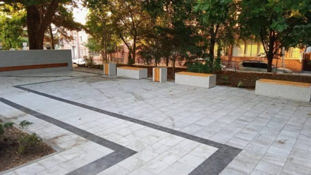 Завершено благоустройство Казанского сквера в Симферополе