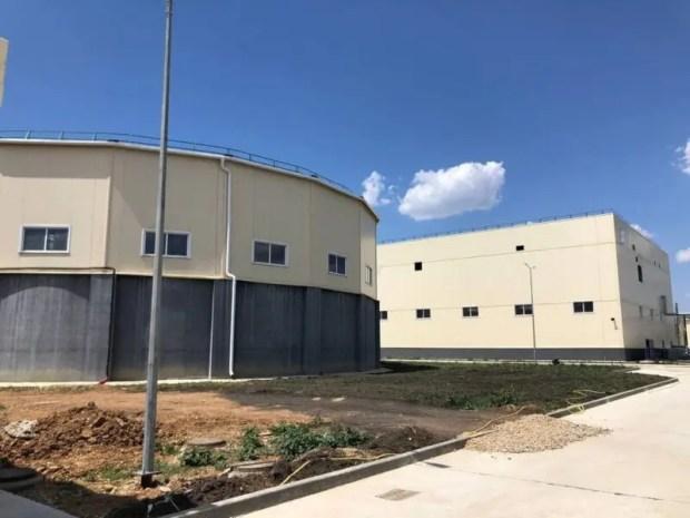 В Саках завершается строительство первой очереди канализационных очистных сооружений