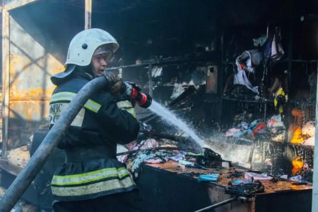 Утренний пожар в Севастополе: горел Шевченковский рынок