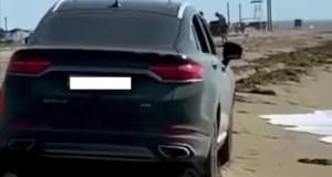 Крымские экологи «вычислили» автомобилиста-нарушителя, устроившего «покатушки» на Бакальской косе
