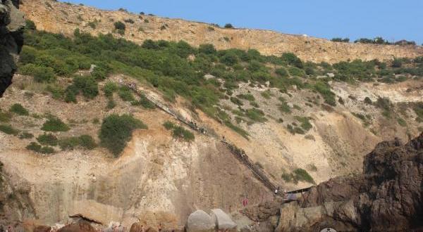 Пляж «Царское село», расположенный недалеко от мыса Фиолент: красиво, но опасно. Спасатели подтверждают