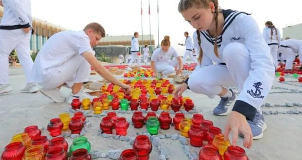 «Артек» в память о героях Второй мировой войны зажёг 10 000 свечей