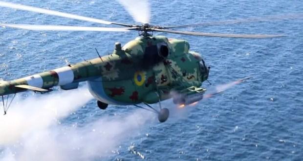 Украинские вертолеты отработала пуски ракет в Херсонской области, близ границы с Крымом