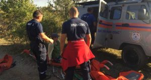 На горе Демерджи спасали москвичку