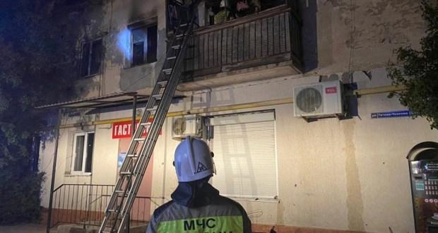 Вечерний пожар в Джанкое: пострадал один человек
