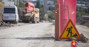 В Алуште продолжается строительство дороги к новому жилому комплексу в 4-м микрорайоне