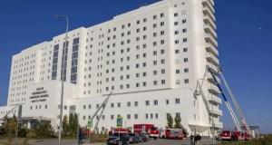 В новом крымском Медцентре имени Семашко ликвидирован условный пожар повышенного ранга сложности