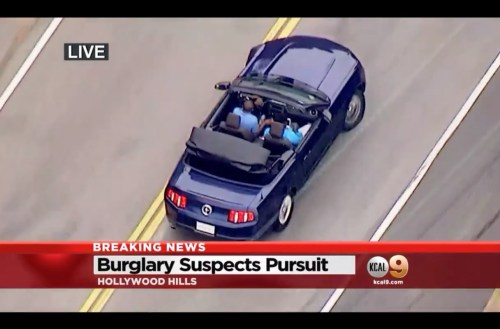 Insane car chase in Hollywood