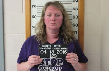 Woman in 'Stop Domestic Violence' shirt charged with domestic violence