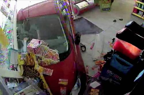 79-year-old drunk driver crashes through a store