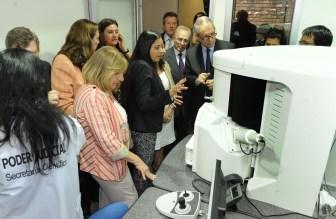 Alak y Falbo estuvieron en la inauguración del laboratorio de Córdoba.